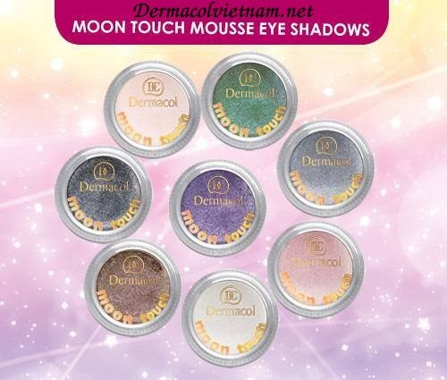Phấn Mắt Kim Tuyến Dermacol Moon Touch Mousse Eye Shadow