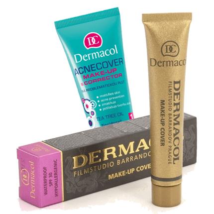 Combo 11:  Bộ Trang Điểm Cho Da Mụn Dermacol Make Up Cover + Acnecover Make up Corrector