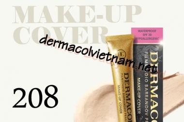 Da đen xù xì bỗng trắng mịn đến bất ngờ với Kem nền Dermacol Make Up Cover 208