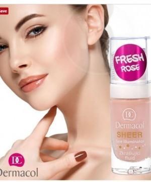 Nền tạo khối sáng Dermacol Sheer Face Illuminator Fresh Rose