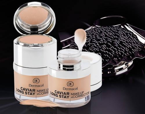 Kem nền Dermacol Caviar long-stay make-up & corrector