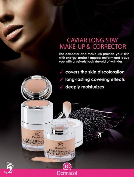 Kem nền Dermacol Caviar long stay make up & corrector